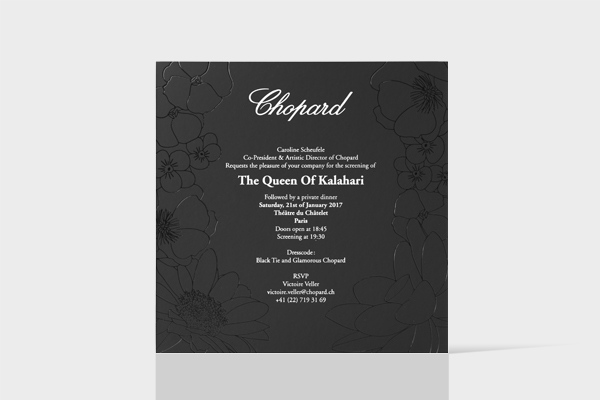 Invitation The Queen of Kalahari